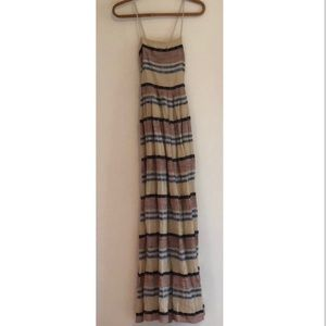 NWT urban outfitters maxi motif dress size 0